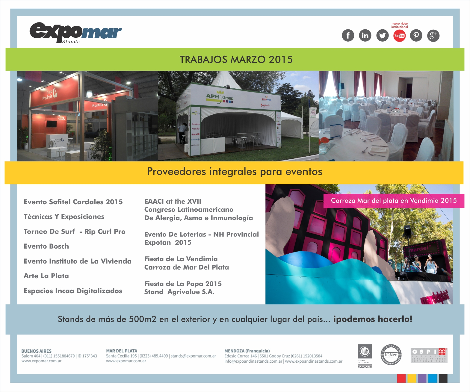 PROJECTS EXPOMAR – MARCH 2015
