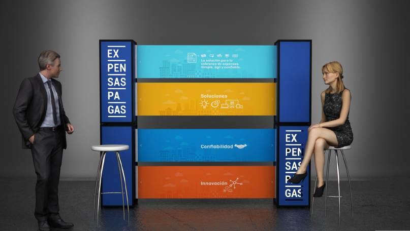 Diseño y realización stand móvil – #expensaspagas
